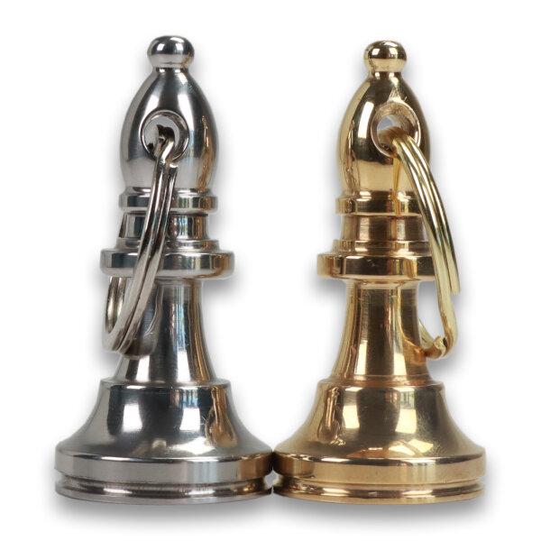 Schachschlüsselanhänger mit Ring Läufer