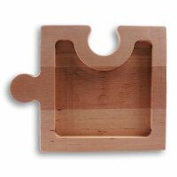 Obstschale im Puzzle Design aus Holz